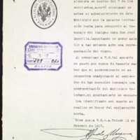 Carta de Alfredo Moyano, alcalde de Toledo, al alcalde de Valladolid, [Leopoldo Stampa Stampa]