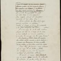 """Borrador de un fragmento del poema """"Segovia"""""""