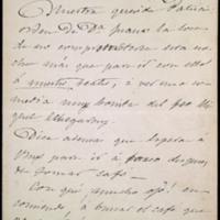 Carta de José Zorrilla y Juana Pacheco a Patricia Luis Redondo